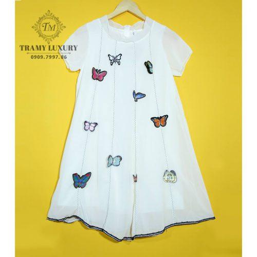 Đầm bầu bầu đẹp hàng hiệu TM501 trắng con bướm