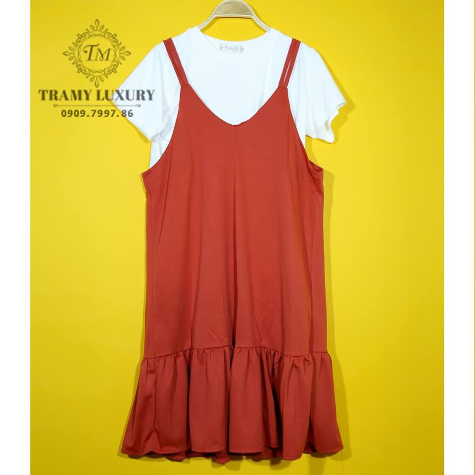 Đầm bầu công sở dáng dài TM503 maxi