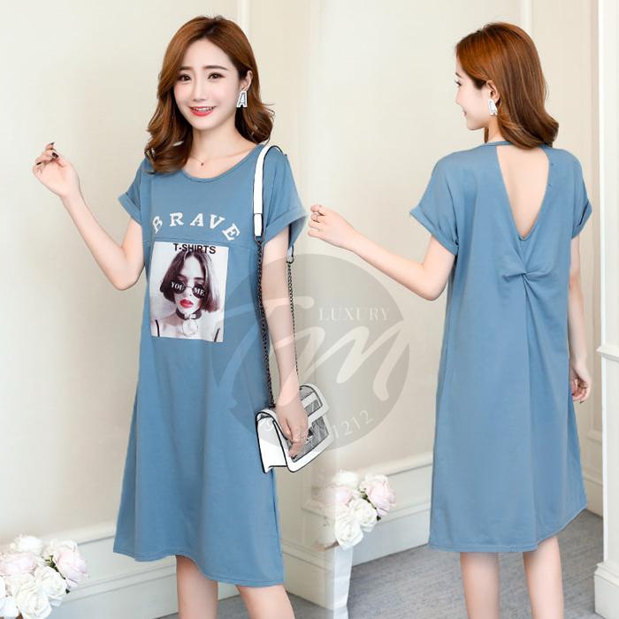 Đầm bầu dáng suông Hàn Quốc