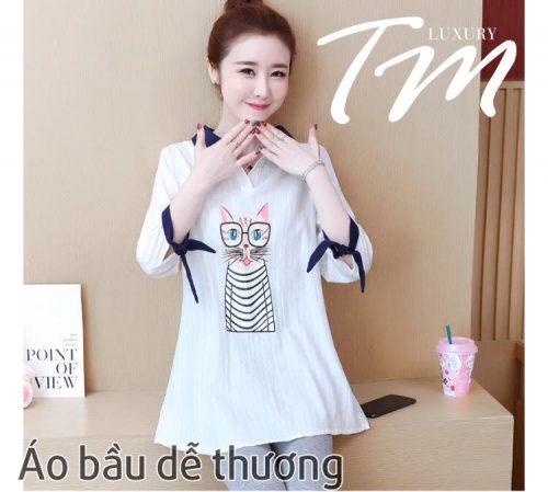 Áo bầu dễ thương T55 cho mẹ bầu Việt