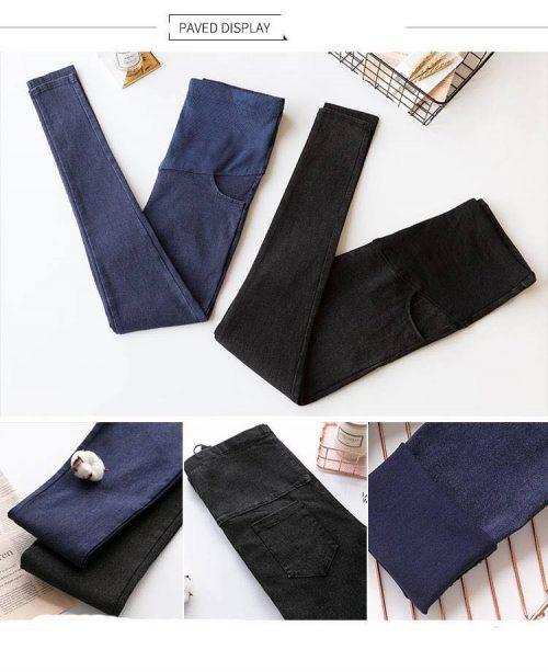 Quần jean bầu giá rẻ xanh than và đen không phai màu